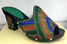 Aliexpress UK 2015 Neue Afrika frauen High Heels Für Frauen Party (YH015-924-green)! Afrika frauen Schuhe