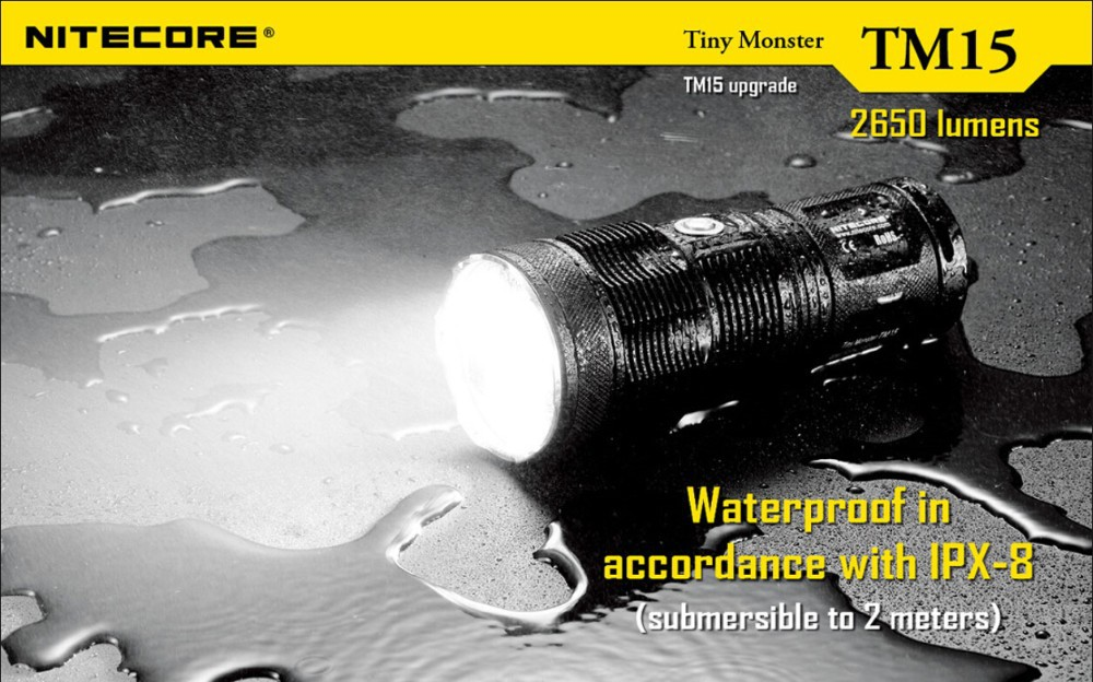 Nitecore TM15 3x CREE XM-L2 LED 4* 18650 Battery Hunting and Searching Flashlight Not Battery nitecore mt10a 920lm cree xm l2 u2 led flashlight torch