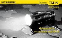 Nitecore TM15 3x CREE XM L2 LED 4* 18650 Battery Hunting and Searching Flashlight Not Battery