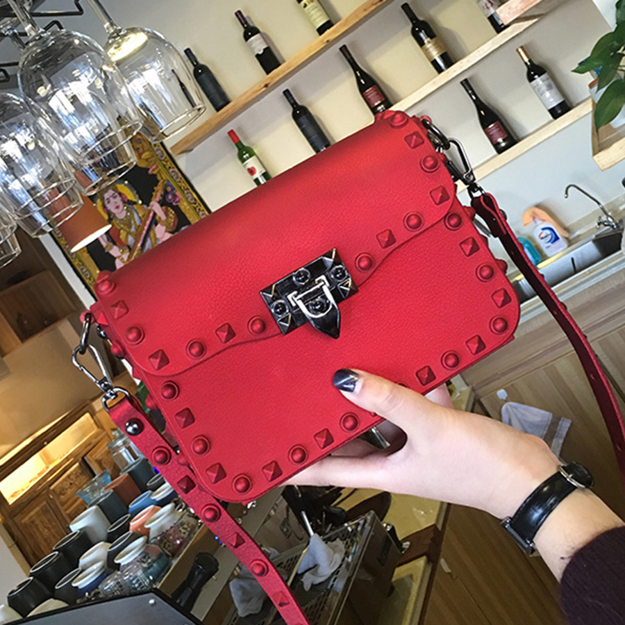 Luxury Rivet Jelly Bag Women Bags Fashion Solid Color Shoulder Bag Ladies PVC Large Capacity Crossbody Bags Summer Designer New free shipping new fashion brand women s single shoulder bag ladies crossbody bag fresh jelly rivet bag 100