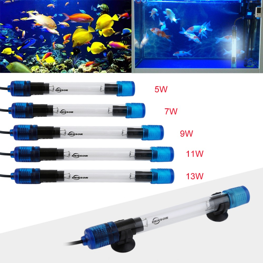 5 tipos luz germicida UV para acuario esterilizador ultravioleta lámpara sumergible buceo Fish Reef Coral Tank lámpara bactericida