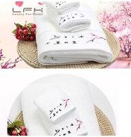3pcs Lot Towel Set Pink Flowers Embroidery 100 Cotton Handkerchief Face Cloth Bath Towels Wholesale Terry