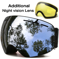 JULI Snow Goggles Double Lens Winter Snow Sports Snowboard Goggles With Anti Fog UV Protection Interchangeable