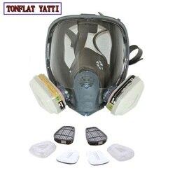 2020 New Full Face Gas Mask Cartridge Organic Vapor Respirator Mask Spray Paint Anti-dust formaldehyde Fire comparable 6800