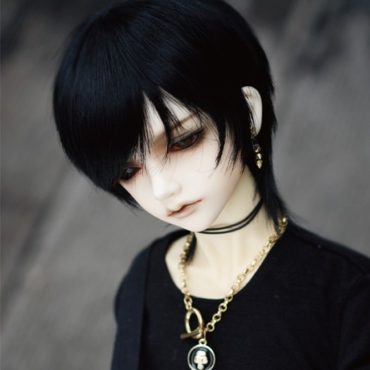 Newest 1/3 1/4 Fashion Style Bjd SD Doll Wig High Temperature Short  Black Wire For BJD Men Hair