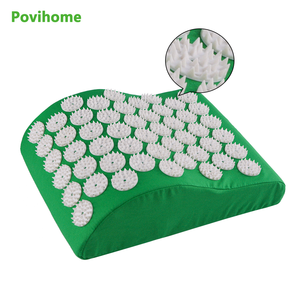 Povihome  Acupressure Yoga Massage Pillow for Neck Head Massage Therapy Pain Relief Health Wellness Green body massage C11285Povihome  Acupressure Yoga Massage Pillow for Neck Head Massage Therapy Pain Relief Health Wellness Green body massage C11285