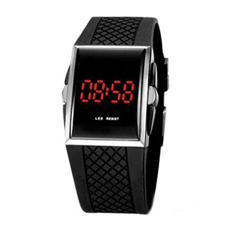 Cool LED Watch Men's Fashion Black White Science Design Silicone Electronic Clock Casual Men Wrist Watches Relogio XF0021
