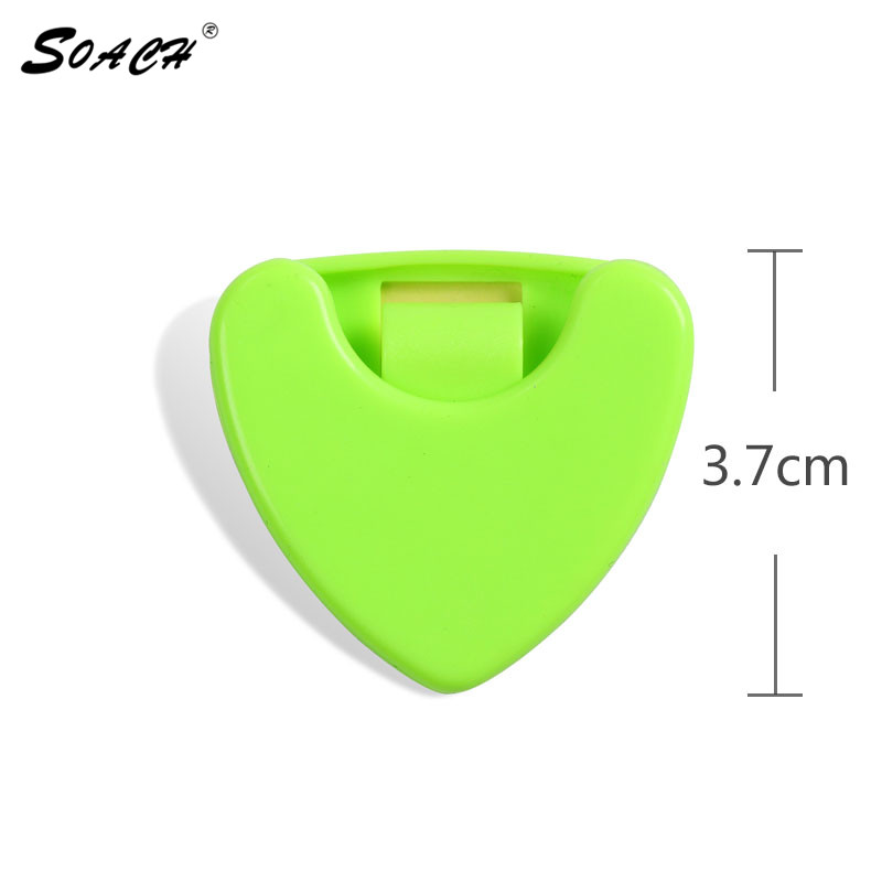 2016 hot small beautiful box guitar pick 7 color 3.6cm high quality plastic material Guitar Accessories guitar picks box boxes