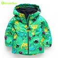 KEAIYOUHOU 2017 Spring Girls Hooded Jacket For Boys Windbreaker Kids Outerwear Coat Children Clothes Boys Dinosaur Raincoat Coat