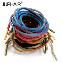 1 Pair Top Layer Leather Shoelaces Colorful Aolid Shoelace Shoesshoelace Decorative Shoestring Metal Head
