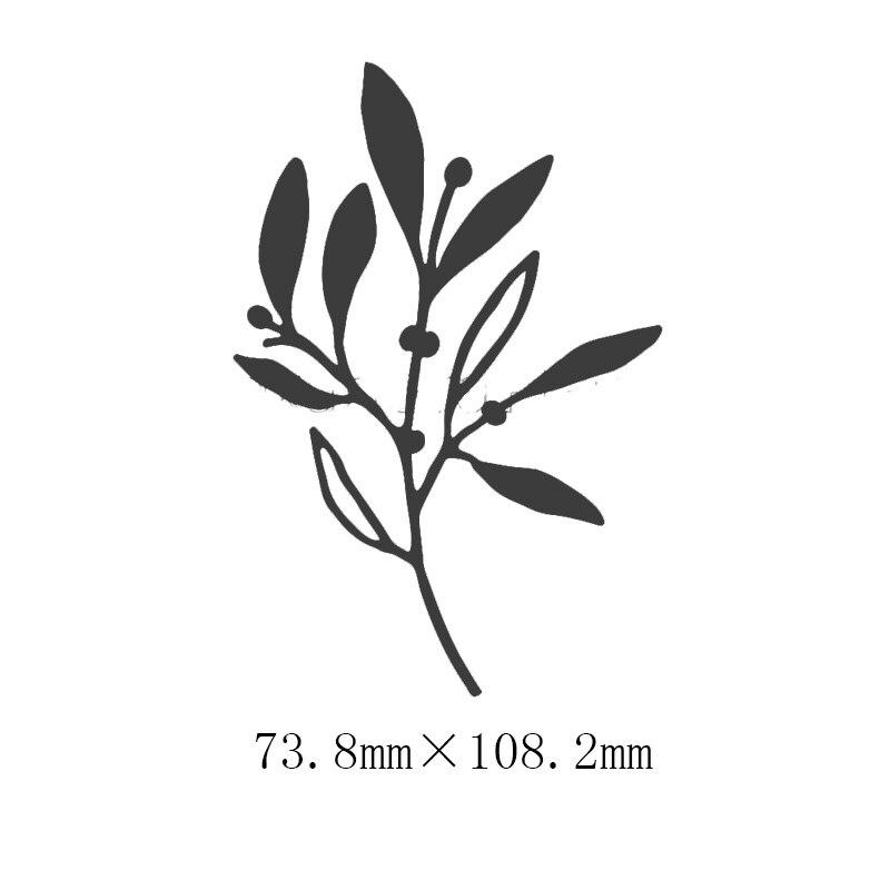 Васильковые травы эвкалиптовая ветка цветы металлические Вырубные штампы для поделок скрапбукинга бумажные открытки, декоративные поделки новые штампы - Цвет: Picture 6
