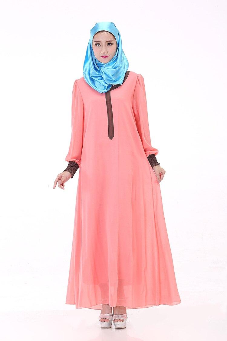 Muslim Robes Israel Arabia Women\'s Long Sleeved Dress Muslim Kaftan ...