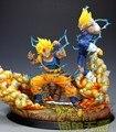 FÃS MODELO Vegeta Dragon Ball versão cópia VKH 40 cm mal VS Super saiyan Goku gk resina estátua VER.2 figura toy para Coleta