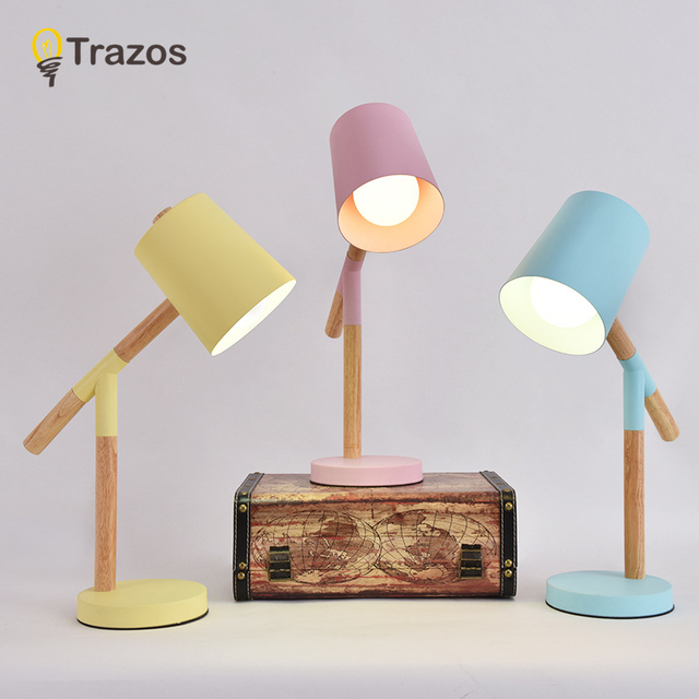 Model Table Lamp TRAZOS Seven c Retro Creative LED Desk Lamps Adjustable Vintage table light for Bedroom/Living room/Bar/Cafe