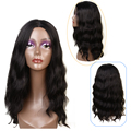 Free Shipping Synthetic Short Wigs for Black Women 22 inches Afro Wavy Hair Wig Cosplay Black Synthetic Hair Full Head Wigs