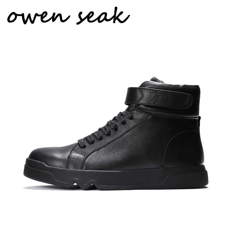 OPP Men Boots Genuine Leather High top Casual Shoes Fashion