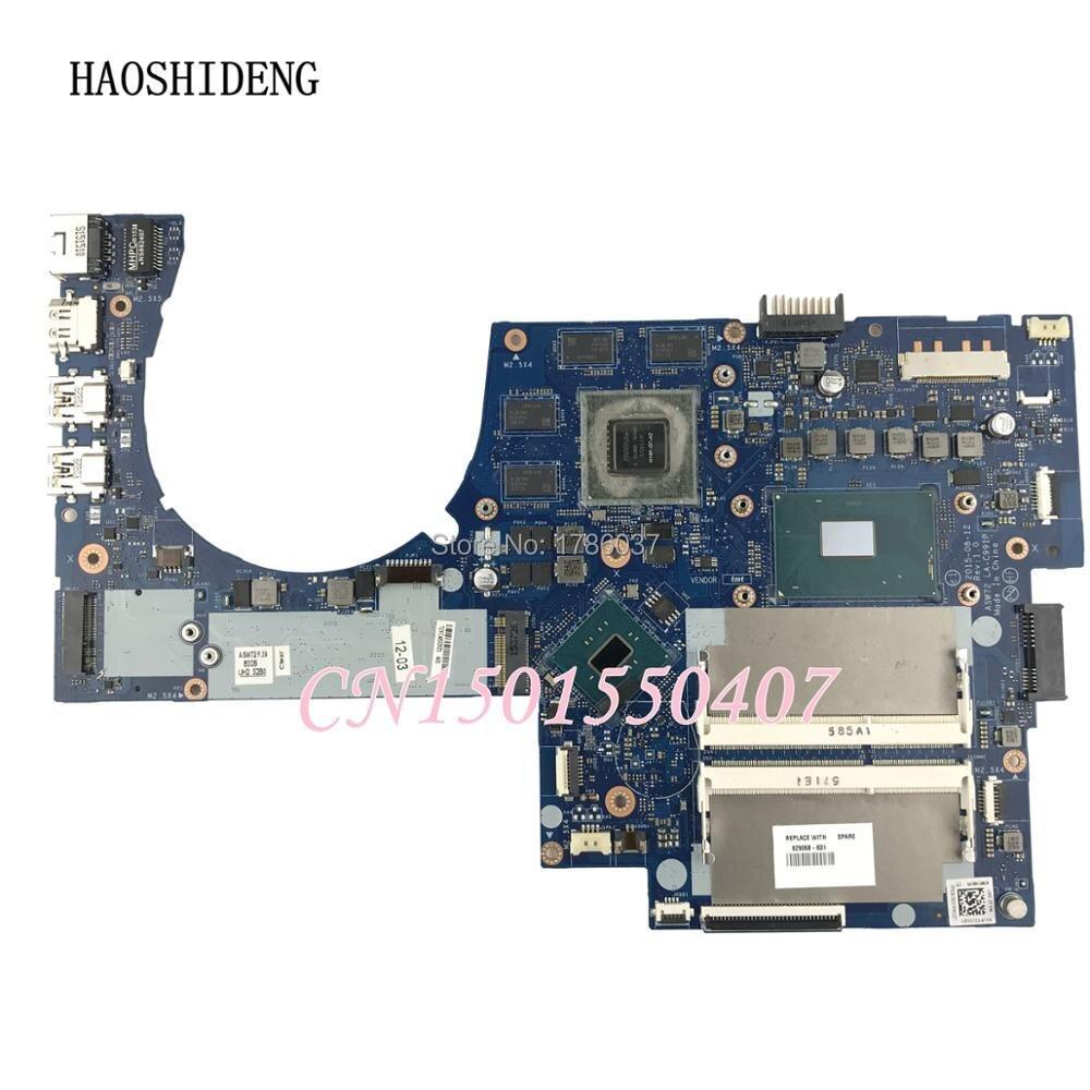 HAOSHIDENG 829068-601 LA-C991P Pour HP ENVY Portable 17-R 17T-N Série Ordinateur Portable Carte Mère avec 950 i7-6700HQ CPU entièrement Testé!