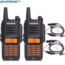 2 шт. Новинка Baofeng UV-9R Plus рация 8 Вт Высокая мощность 2800 мАч батарея UHF VHF двухдиапазонный водонепроницаемый двухстороннее радио+ 2 гарнитуры
