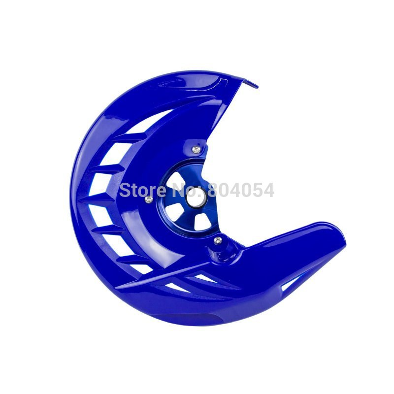 ФОТО Motorcycle X-Brake Blue Front Brake Disc Cover w/ Mounting For Yamaha YZ125 YZ250 2008-2015