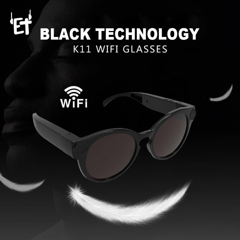 ET Digital Wifi Camera Sunglasses HD Glasses Eyewear DVR Video Recorder 1080P Snapshot Camera Sun Riding Glasses Mini Camcorder 2016 new fashion sunglasses women brand designer sun glasses vintage eyewear