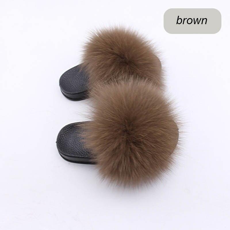 children slippers fox fur (10)