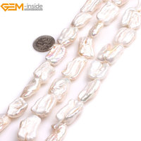 Gem Inside Natural White Pink Purple Multicolor Stick Point Biwa Freshwater Cultured Pearls Beads For Jewelry