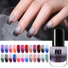 NEE JOLIE Winter Thermal Nail Polish Glitter Color Changing Fast Dry Manicure Varnish Shinny Shimmer Lacquer 7.5ml 3.5ml