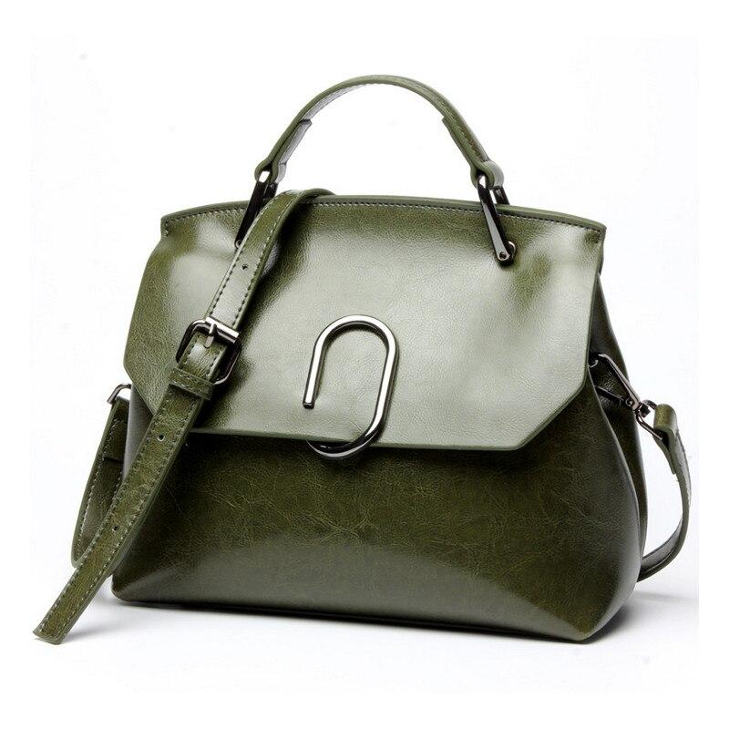 YGDB Brand Genuine Leather Women Handbag Design Casual Ladies Shoulder Messenger Satchel Bag Female Solid Leather Bags L6134
