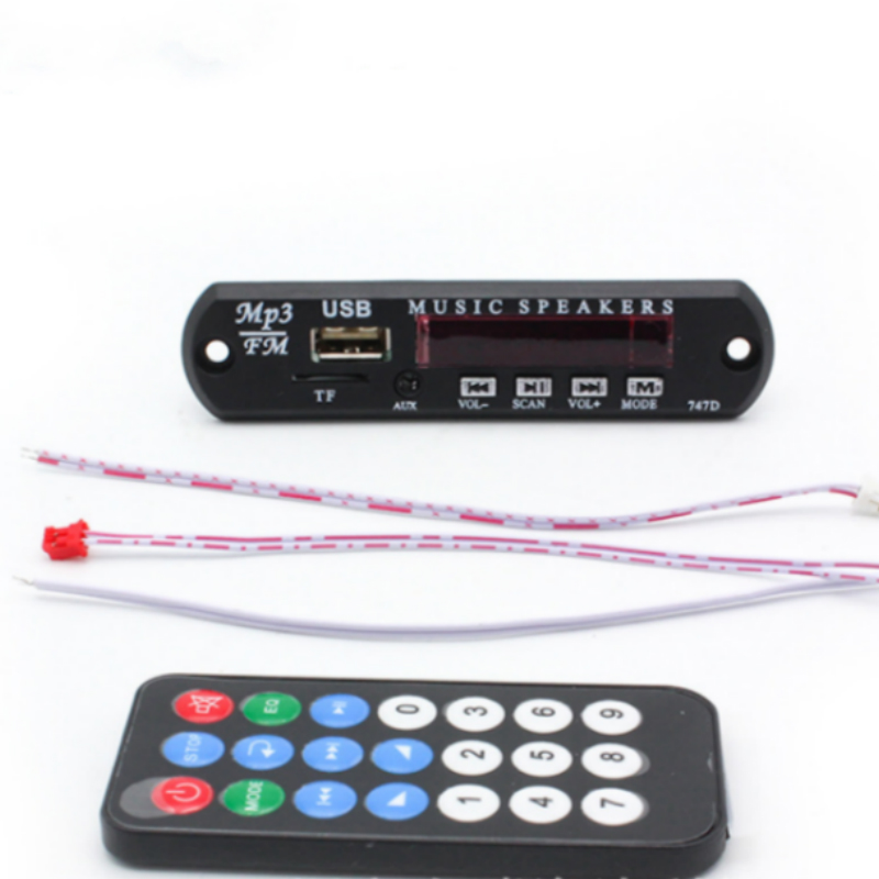 Car USB Hands-free MP3 Player Integrated MP3 Decoder Board Module with Remote Control USB FM Radio for Car