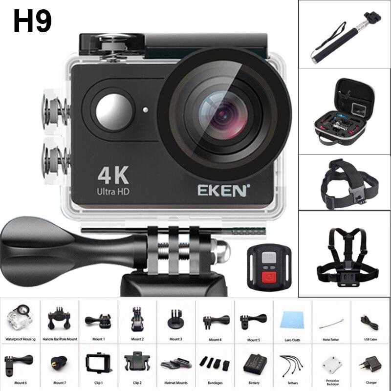 2019 nouveau Original EKEN H9/H9R à distance Ultra 4 K Full HD 1080 P WiFi Sport Action caméra 2.0 LCD vidéo DV Sport étanche caméra