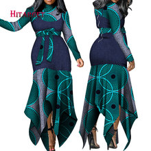 2019 Dashiki African dresses for women Bazin Riche long sleeve African dresses Ankara fashion elegant African sexy dress WY4804 lacywear блузка dg 4 max