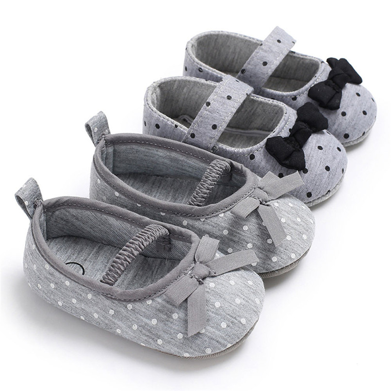 Baby Infant Kids Girl Bowknot Soft Sole Crib Toddler Newborn Shoes First Walker A84L076