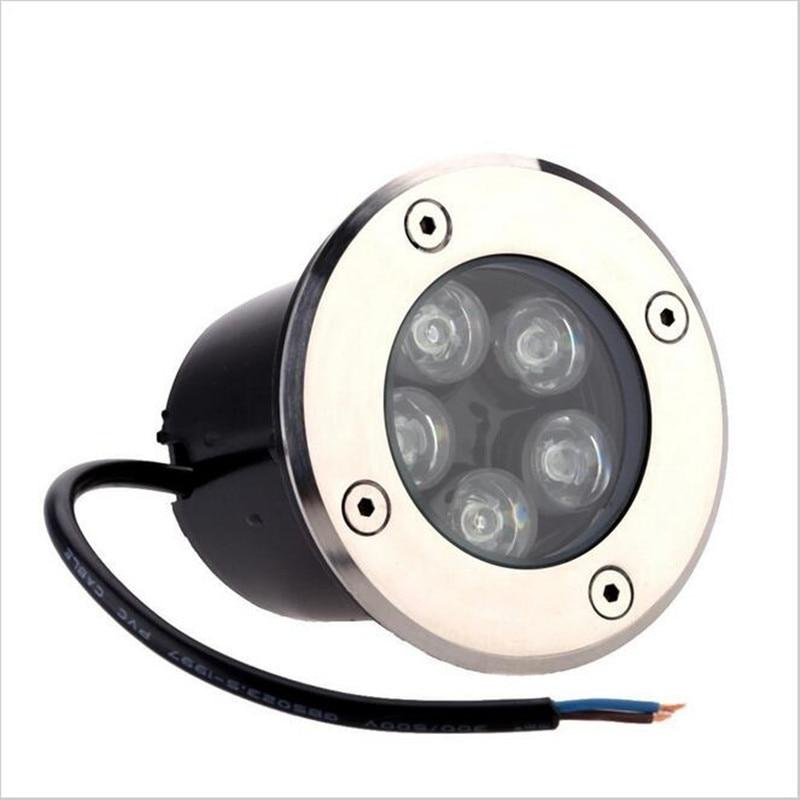 Lights & Lighting Free Shipping 5w Led Light Spot Lamp Waterproof Lamp Outdoor Underground Garden Light Ac85v-ac265v/dc12v