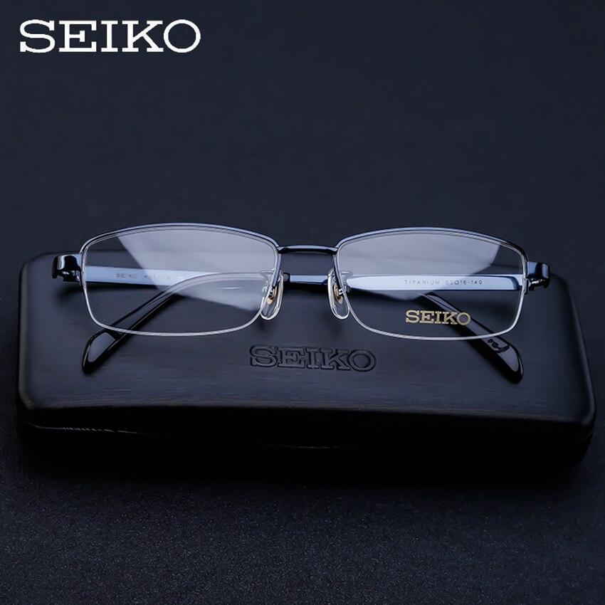 セイコー男性処方メガネ純チタン男近視処方眼鏡矯正チタン視度メガネ H01116  グループ上の アパレル アクセサリー からの 処方メガネ の中 1