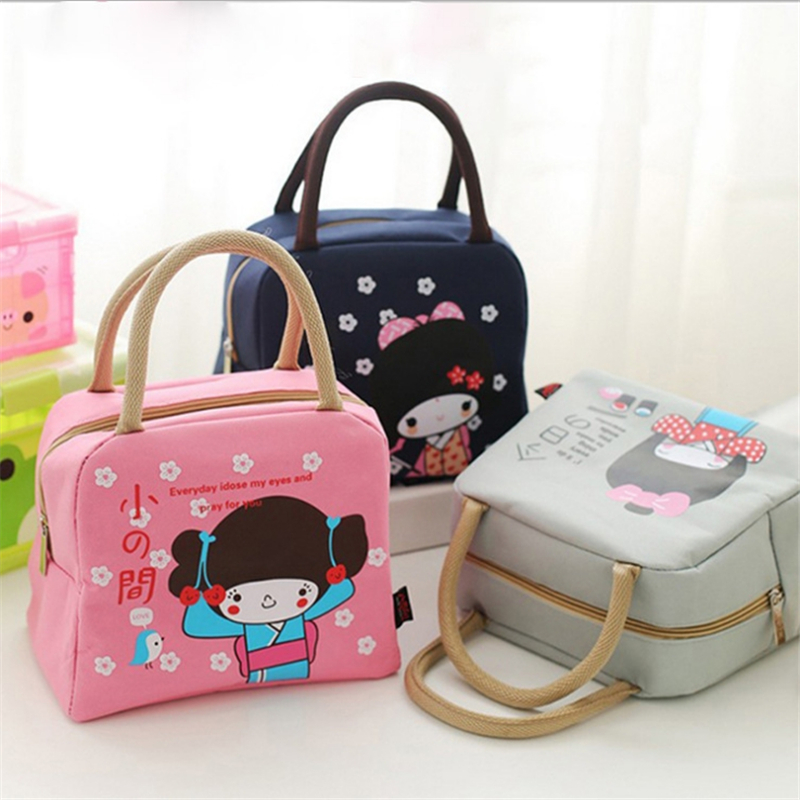New Cartoon Lunch Bag For Kids Oxford Cloth Portable Insulated Tote School Food Storage Container Box Tote Cooler Picnic Bag in Lunch Bags from Luggage Bags