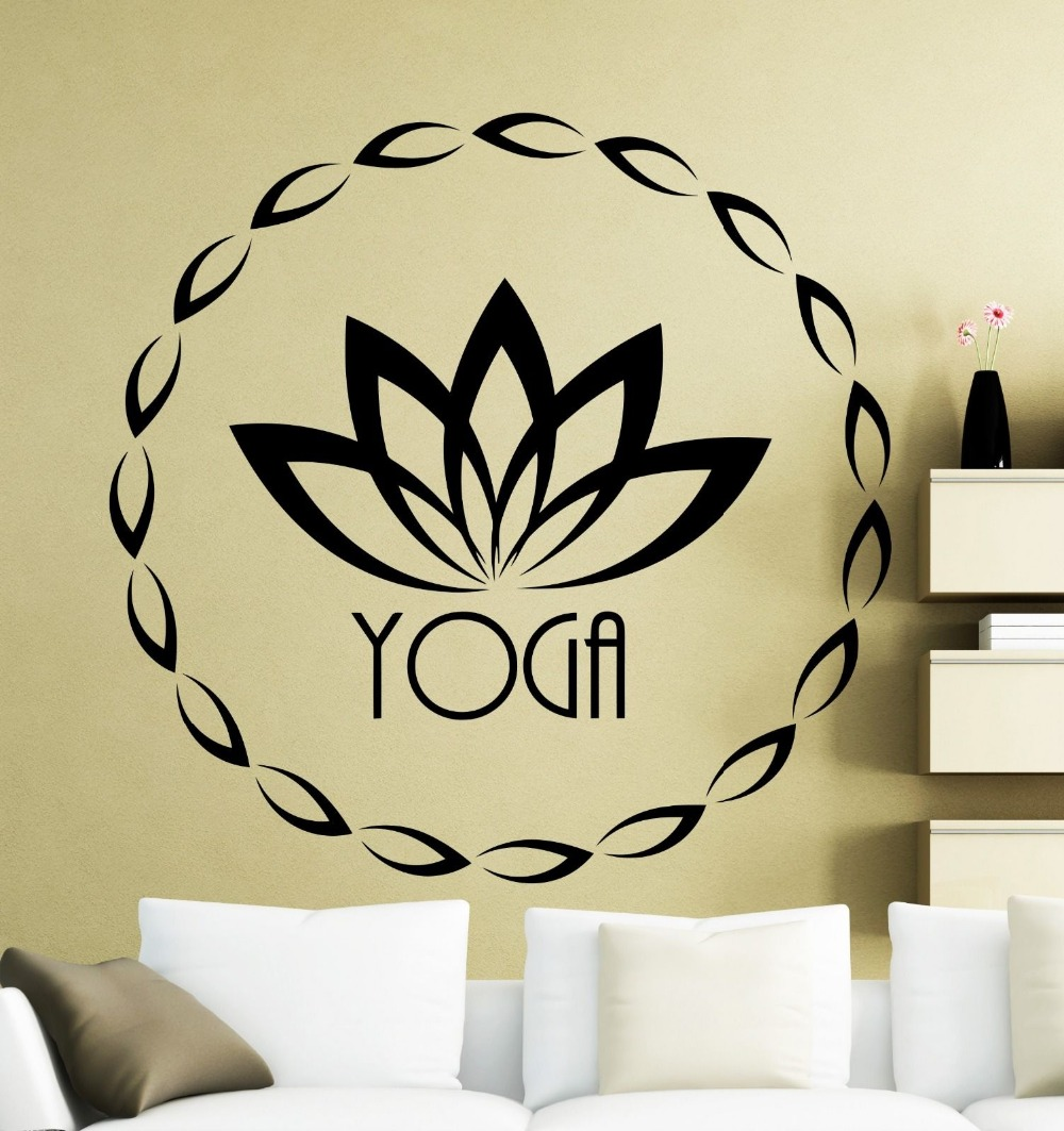 Quality Home Decor Wall Stickers Vinyl Decal Muddha Yoga Lotus ...
