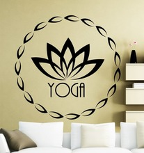 Quality Home Decor Wall Stickers Vinyl Decal Muddha Yoga Lotus Fitness Sticker Decoration CW-45