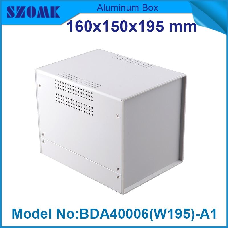 1 piece iron box electronic project diy box case acrylic project enclosure 160(H)x150(W)x195(L) mm 229 35 150 mm w h l saver black aluminum electronic enclosure case project diy box