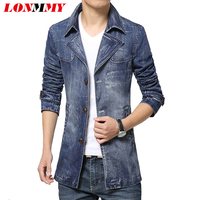 Mens Suit Jacket Blazer Mens Denim Blazer Slim Fit Casual 2016 Spring Blazers For Men Plus