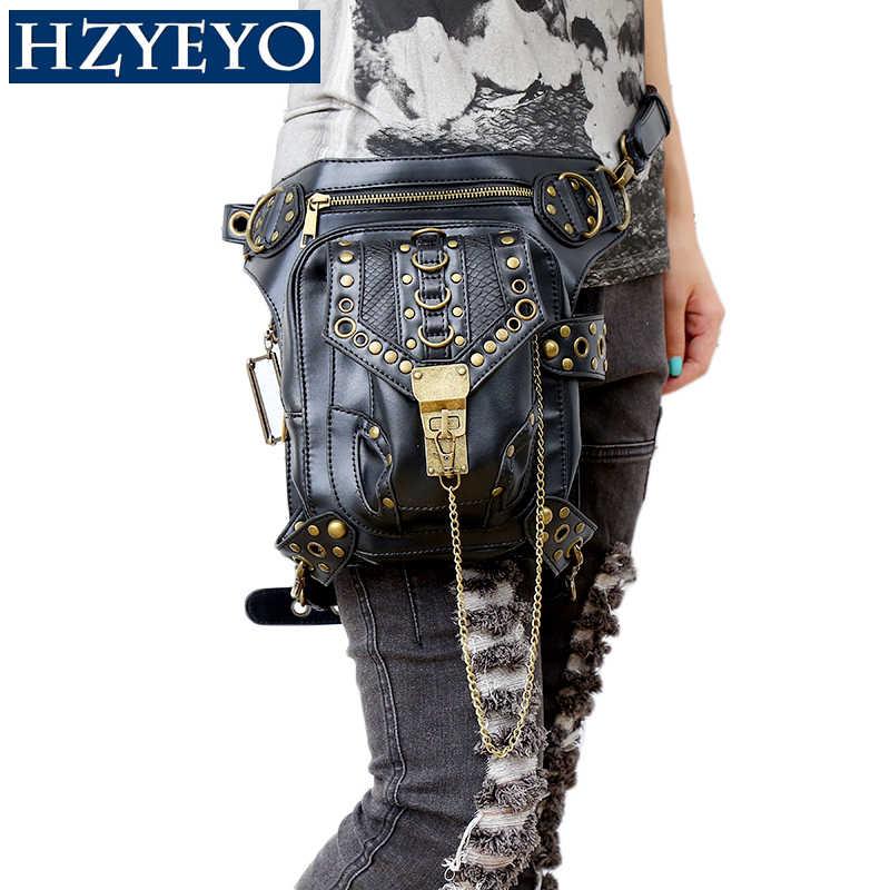 HZYEYO Motorrad Tasche Motorrad PU Leder Sportster Reiten Taille Taschen Motorrad Rucksack Oberschenkel Drop Bein Tasche, A85