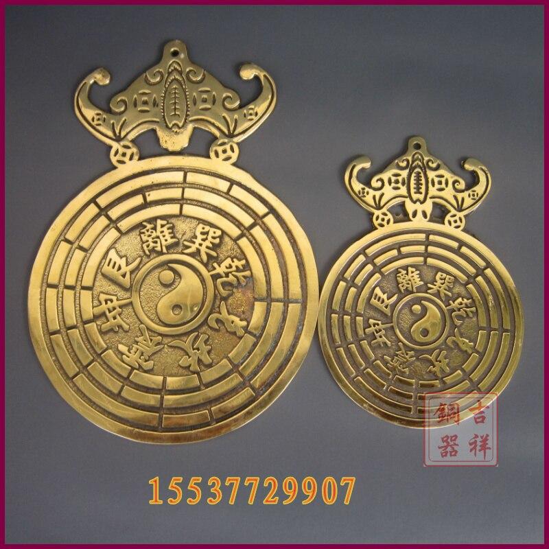 carving Bronze gift lovers Art Lucky coins lucky 9 stars bronze sculpture  customize Statues & Sculptures Home & Garden - title=