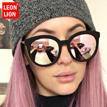 LeonLion 2019 Vintage Luxury Women Sunglasses Candy Color Le