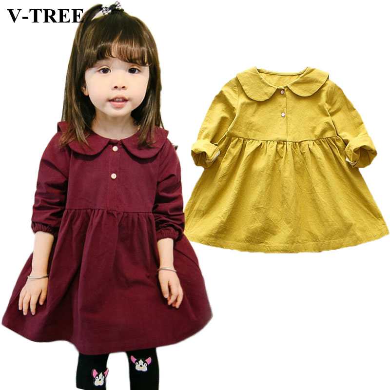 2018 Autumn Spring Kids Dresses For Girls Long Sleeve Girls Dress Cartoon Children Princess Clothing Toddler Costume children s clothing autumn girls suit 2015 new kids long sleeve sports casual sets big girls cartoon princess spring 3 piece