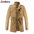 2016 Trench Long Coat Men Retro Mens Overcoat Winter Jackets Male Fleece Warm Coats Classic Men's Trench Jacket Brand Clothing