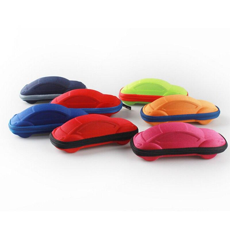 1PC Eye Glasses Sunglasses Hard Case Box Portable Protector Car Shape Blue Color For Children Toys 16.8*7.5*6cm