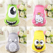 Fashion Cartoon Printed Pet Cat Vest Breathable Mesh Cat Clothes Small Dog Puppy