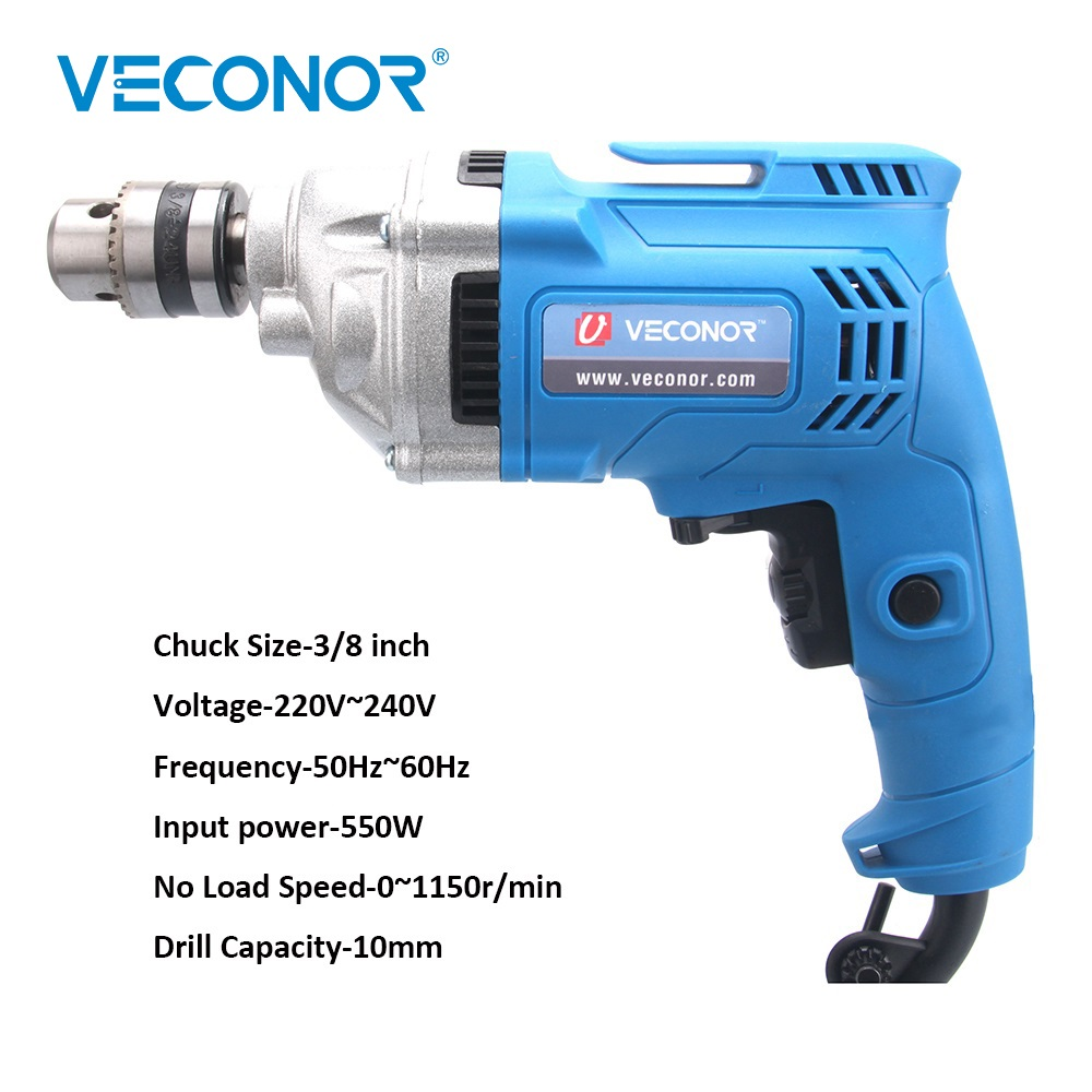 Veconor Power Tool Eelectric Screwdriver Screw Driving Tool High Torque Impact Hammer Drill 220V 550W High Quality Rotary ToolVeconor Power Tool Eelectric Screwdriver Screw Driving Tool High Torque Impact Hammer Drill 220V 550W High Quality Rotary Tool
