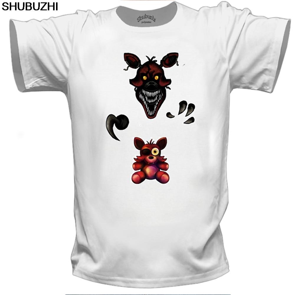 Actief Korte Mouw Fnaf Pluche Foxy Mannen T-shirt Zomer Hiphop Tee Shirt Katoen O-hals T-shirt Man Plus Size Merk Kleding Van Tiener
