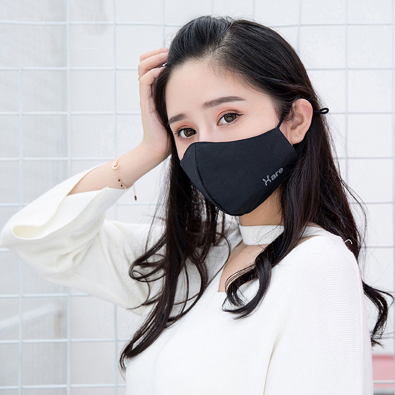 1Pcs Mask Dust Mask Anti Pollution Mask PM2.5 Activated Carbon Filter Insert Can Be Washed Reusable Pollen Mask for Men Women