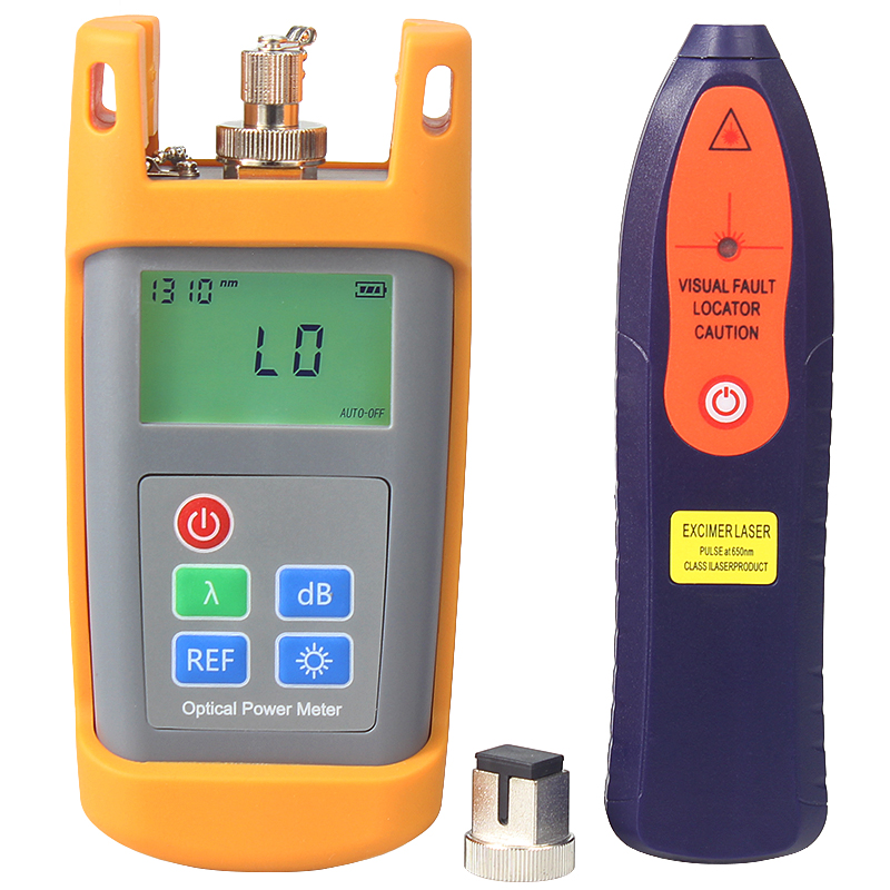 Mini type optical power meter and test pen 1-5KM red light visual fault locator Free shipping